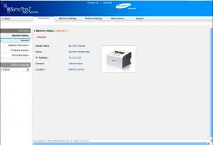 ML-2571N Web Interface